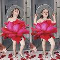"""Distracţie de mamă pe Instagram: Îşi """"îmbracă"""" fetiţa cu flori, fructe şi legume"""