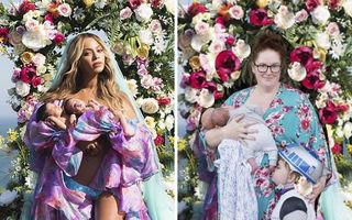 Beyonce, luată peste picior: Pozele cu gemenii ei au ajuns subiect de parodie