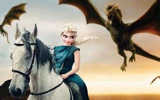 """Cum ar arăta prinţesele Disney dacă ar juca în """"Game of Thrones"""""""