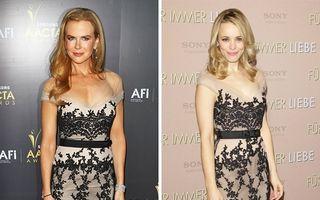 20 de vedete care au purtat aceeaşi rochie. Cine arată mai bine?