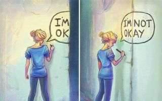 15 imagini cu mesaje ascunse care te ajută să înțelegi depresia