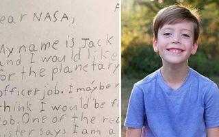 Un copil de 9 ani a aplicat pentru un job la NASA şi a primit răspuns