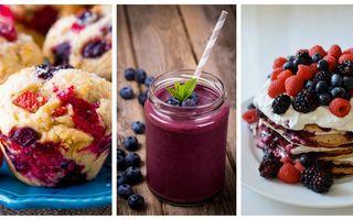 Mic dejun cu fructe de pădure. 5 idei ca să faci cele mai sănătoase combinaţii