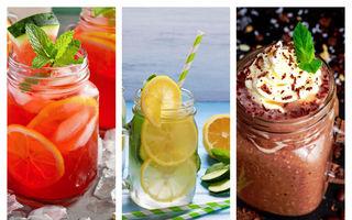 5 băuturi sănătoase pe care să le bei pe caniculă