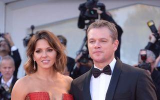Matt Damon, un tip norocos: Soţia lui a cucerit Veneţia