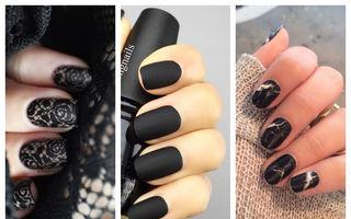 Manichiura neagră elegantă. 20 de idei șic