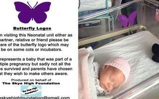 Care e semnificaţia fluturelui mov de pe pătuţul de bebeluş: Simbolul despre care părinţii nu vor să vorbească