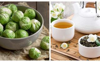 Studiu. Varza de Bruxelles şi ceaiul verde combat cancerul de sân