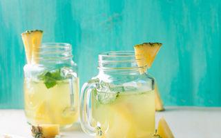 Apa cu ananas este eficientă pentru detoxifiere și slăbit. Iată cum se prepară