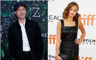 Brad Pitt și Ella Purnell. S-a cuplat actorul cu varianta mai tânără a Angelinei Jolie?