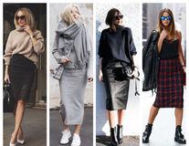 Cum să porți fusta conică toamna? 20 de sugestii ca să faci combinații stylish