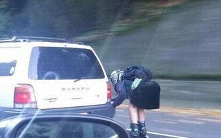 Ciudăţenii în trafic: Cele mai bizare lucruri pe care poţi să le vezi când eşti la volan