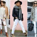 Cum să porți blugii albi în această iarnă