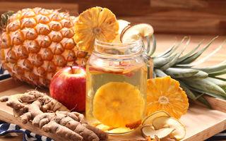 3 infuzii de fructe care ard grăsimile