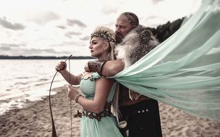 Asta au vrut, asta au făcut: Poze de nuntă inspirate de vikingi