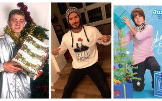 10 fotografii de tot râsul pe care vedetele le-au făcut cu ocazia Crăciunului