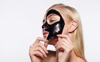 Mască neagră naturală din gelatină și cărbuni