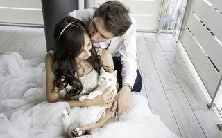 Fotografiile de nuntă cu pisici în prim plan, noul trend care face senzație
