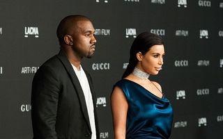 Kim Kardashian şi Kanye West au devenit părinţi pentru a treia oară