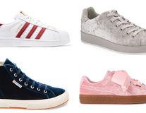 Pantofii sport din catifea, la modă în primăvara 2018. 11 modele cool