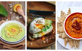 8 idei de mic dejun cu hummus