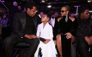 Fiica lui Beyonce și Jay Z, un star în devenire. Blue Ivy a purtat o rochie albă la Premiile Grammy