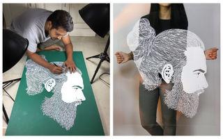 Un artist realizează adevărate opere de artă sculptate în hârtie