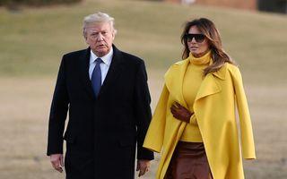 """""""Iubire"""" la Casa Albă: Melania refuză iar să-l ia de mână pe Trump - VIDEO"""