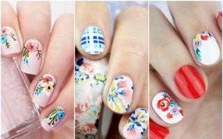 30 de manichiuri florale pe care să le încerci primăvara aceasta