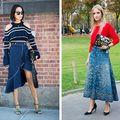 Cum să porți fusta de blugi în 2018