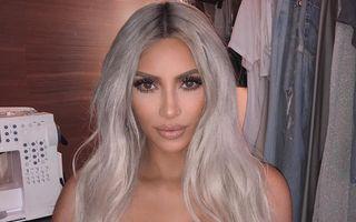 Kim Kardashian și-a vopsit părul roz
