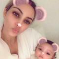 Primul selfie cu fetița lui Kim Kardashian