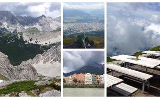 În Innsbruck ești cu capul în nori, la propriu și la figurat. Ceea ce vezi de la 2.256 de metri înălțime îți taie respirația!