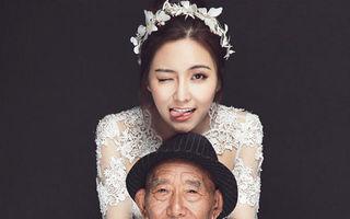 Gest emoţionant: A îmbrăcat rochia de mireasă pentru a-i împlini ultima dorinţă bunicului