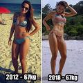 Dovada că nu kilogramele trebuie să te preocupe! Aceste femei au aceeași greutate, dar alt corp