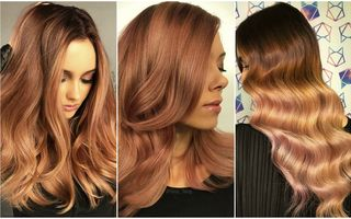 Părul în nuanţe de auriu roze, un trend spectaculos