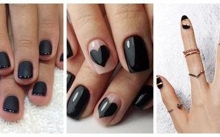 Manichiura neagră impecabilă. 20 de combinații noi pe care le poți face