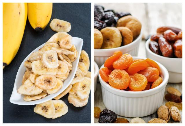 Chipsuri din banane si fructe uscate