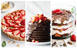 6 idei ca să faci un desert rapid cu căpșuni