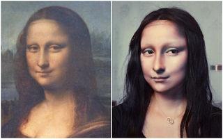 S-a transformat în Mona Lisa folosind machiajul. Rezultatul este incredibil!