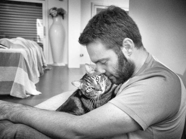 datând un bărbat cu pisici