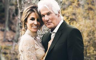 Dragoste la 68 de ani: Richard Gere e cel mai fericit om după a treia nuntă