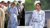 Meghan Markle a purtat un imprimeu aproape identic cu unul purtat de Prințesa Diana