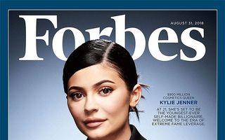 """Coperta care stârneşte râsul: Kylie Jenner, cea mai tânără miliardară """"pe cont propriu"""""""