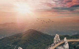 """Cel mai spectaculos pod din Vietnam. Pare desprins din """"Stăpânul Inelelor"""""""