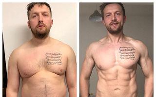 De la burtă la pătrățele în 8 luni: Transformarea uimitoare a unui bărbat după ce a devenit tată