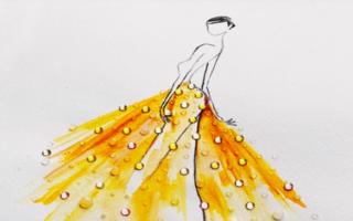 Un artist folosește picătura de apă ca să deseneze cele mai frumoase rochii