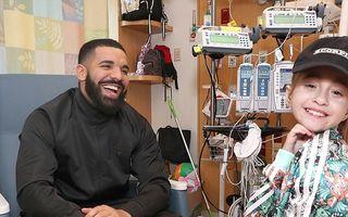 """""""Băiatul rău"""" cu inimă mare: Reacția unei fetițe bolnave când l-a văzut pe Drake lângă patul ei"""