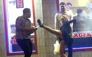 Cum se distrează tinerii englezi în zilele libere: Fetele au făcut prăpăd pe străzi!