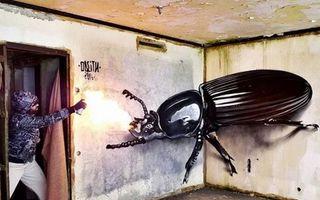 Desenele graffiti 3D care te vor lăsa fără cuvinte. Par rupte din realitate!